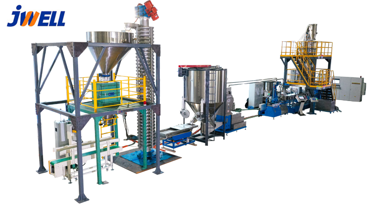 Modified granulation production line